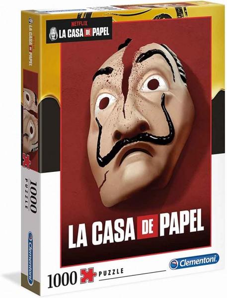 Haus des Geldes Puzzle mit Dali Maske und Logo