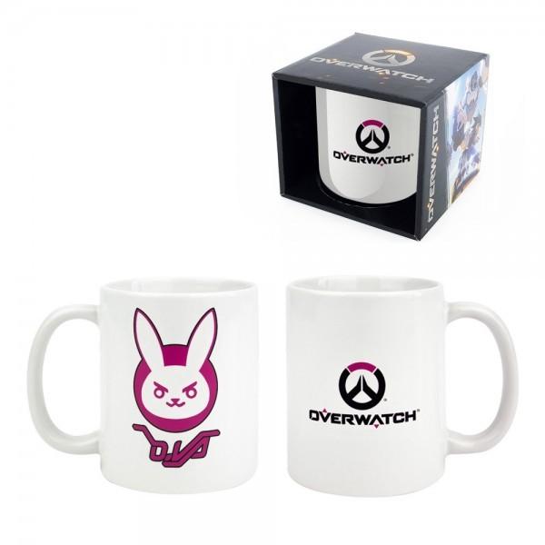 Gaya Overwatch Mug mit D Va Logo weiß