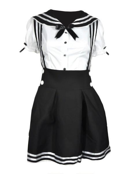 Japanische Cosplay Schuluniform   Schwarz oder Blau   Größen: S - XL