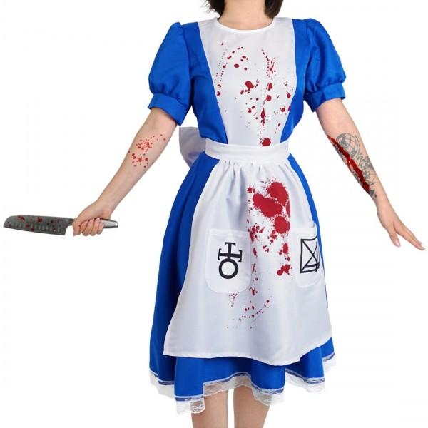 Horror blutiges Dienstmädchen Kostüm