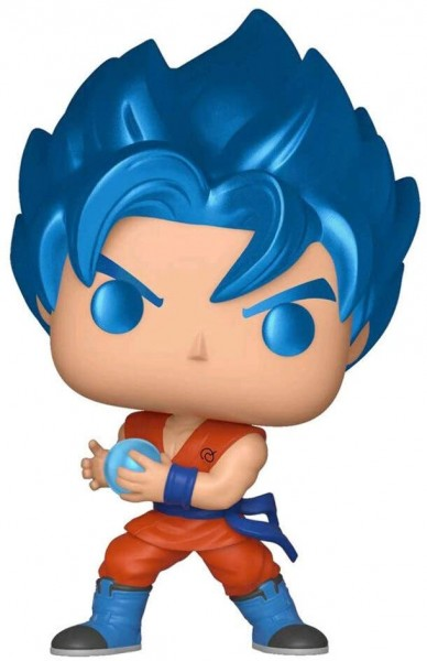 Metallic Funko POP Figur von Goku mit Kamehameha