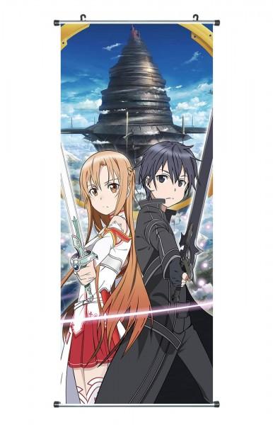 Sword Art Online Wallscroll mit Asuna und Kirito