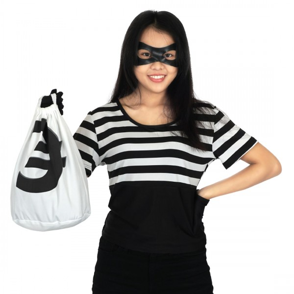 Verbrecher Kostüm Set Karneval
