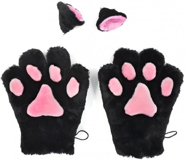 Handschuhe und Ohren für Neko Cosplay