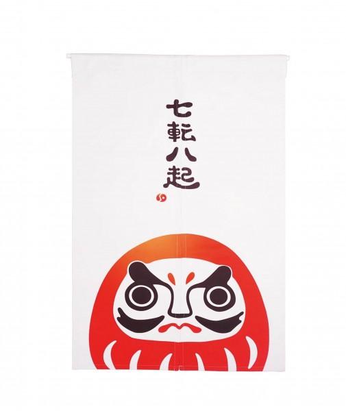 Japanischer Tür Vorhang mit Daruma Motiv